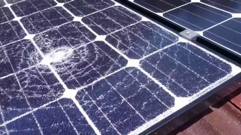 Storm Damaged Solar Panel